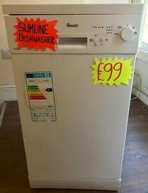BRAND NEW SLIMLINE DISHWASHER IN WHITE BARGAIN ..!!!