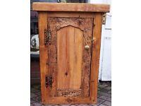 Victorian reclaimed pine kitchen cabinet