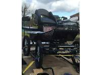 Superb Unmarked Sports Horse Carriage. Polish 6 seater for duo or single.
