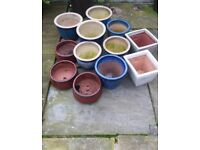 12 small plant pots for sale