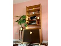 Vintage Mid Century Modern Habitat Record Storage bookshelf Display Unit Cupboard