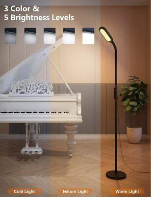 Lámpara de Pie / Mesilla LED Regulable con Memoria, Temporizador, Control Táctil