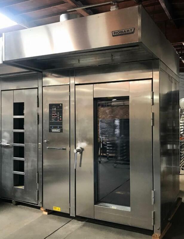 "Hobart HBA2G Double Rotating Rack Gas Bakery Restaurant Oven With ""C"" Rack Lift"