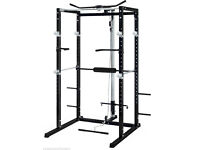 Heavy Duty Olympic Power Cage Rack with lat pulldown and pullup barm