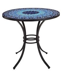 Mosaic outdoor table - BOXED - BRAND NEW - blue - 40 available