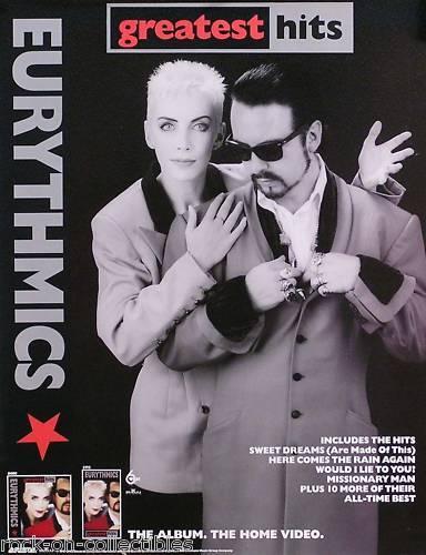 Eurythmics 1991 Greatest Hits Original Promo Poster