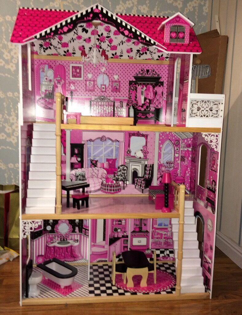 Large U0027Isabelleu0027 Dolls House U0026 Furniture (currently Used With Monster High  Dolls)