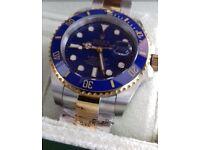 *PREMIUM* 2Tone Rolex Submariner with Glidelock bracelet adjustment and Ceramic bezel