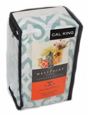 Jill Rosenwald COPLEY NEWPORT GATE Slate Cal King Bedskirt NWT