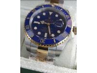 *BRAND NEW* Ceramic 2Tone Rolex Submariner with Engraved rehaut/Serial No.+Box&Papers (£120 alone)