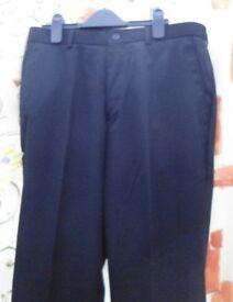 John Lewis Sixth Form Suit Trousers. Black Size 32R