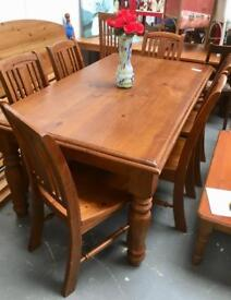 Dining table/6 chairs. CHRISTCHURCH