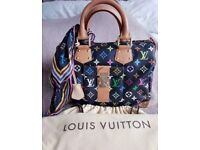 FAB AUTHENTIC LOUIS VUITTON SPEEDY 30 MULTICOLORE WITH DUSTBAG. COMES WITH MATCHING SILK BANDEAU
