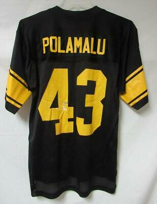Pittsburgh Steelers Mens Size Small Troy Polamalu #43 Jersey A1 2068