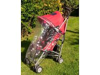 Maclaren Quest stroller / Waterpfoof hood / Rain cover / Oversized shopping basket