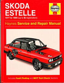 HAYNES SKODA ESTELLE SERVICE & REPAIR MANUAL 1977 - 1989