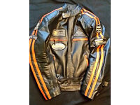 Mens Motorbike Jacket – High Quality Heavy Duty Cowhide Leather – NEW