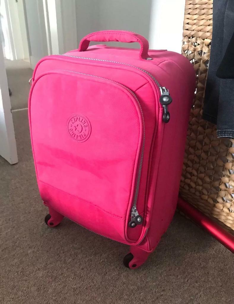 10cfb4b58f Kipling pink 4 wheeled cabin suitcase excellent condition   in Balham ...