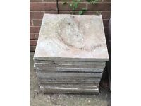Paving slabs 45 X 45 cm textured surface