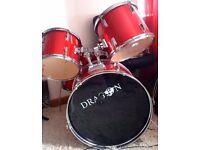 Red Shiny Drum Set