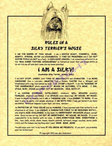 Rules In A Silky Terrier