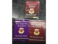 CGP and letts&Lonsdale key stage two and three, maths, science books and key stage 2 English book