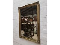 Gilt Framed Rectangular Wall Mirror (DELIVERY AVAILABLE)
