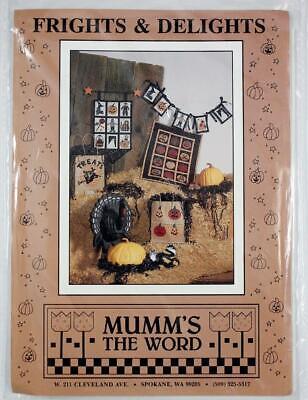 Mumm's The Word Frights & Delights Halloween Banner Garland Debbie Mumm Pattern