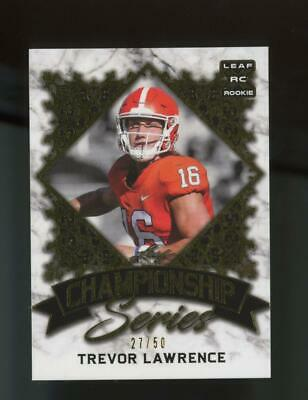 2021 Leaf Championship Series Gold XRC Trevor Lawrence /50 RC Rookie