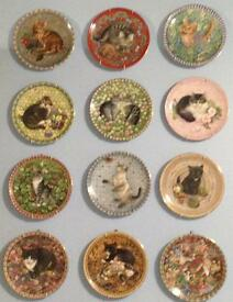Lesley Anne Ivory 'kittens' wall plates - price reduced!!!