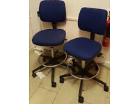 2 x Verco tall office/ cashier or high counter chairs -£40