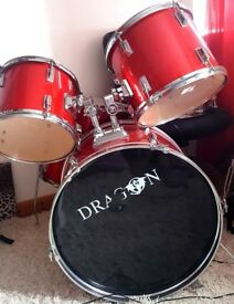 Shiny Red Drum Set Kit