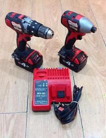 !!Milwaukee M18-BPD 2-Speed Combi Drill & M18-BID Impact Driver!!