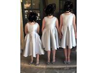 Silver bridesmaid dresses from monsoon