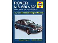 HAYNES ROVER 618, 620 & 623 SERVICE REPAIR MANUAL 1993 to 1997 PETROL