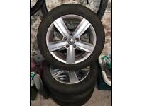 "16"" alloy wheels from VW golf (pair)"