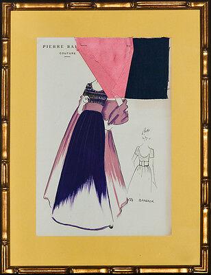Original 433 Bangkok by Pierre Balmain Couture Fashion Framed Plate