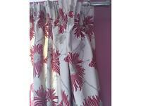 Laura Ashley Kimono Curtains Cranberry Full Length