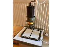 Paterson photo enlarger with Jupiter 8 lens and masking frame