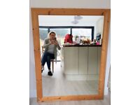 Large wooden-framed mirror, £50, 136cm x 106cm