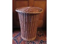 Willow woven laundry basket