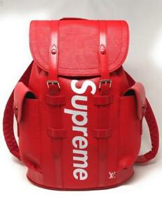 Louis Vuitton X Supreme  Red Black BackPack ( More Styles  Available)