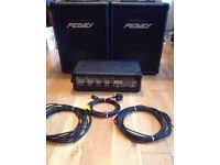 Peavey MP400 mixer and speakers