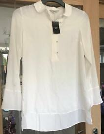 Next Cream Shirt Size 8 NWT