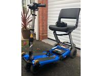 Luggie Folding Travel Mobility Scooter - Blue
