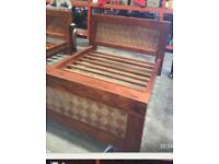 Solid wood kingsize bed retail over £2000