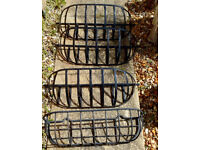 Heavy Duty Wall-Mounted metal planters x 4