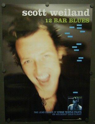 SCOTT WEILAND PROMO POSTER 12 BAR BLUES 1998 STONE TEMPLE PILOTS BARBARELLA