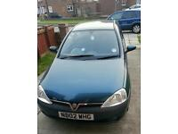 Vauxhall Corsa 1.2 sxi 2002 '02' plate spares or repairs