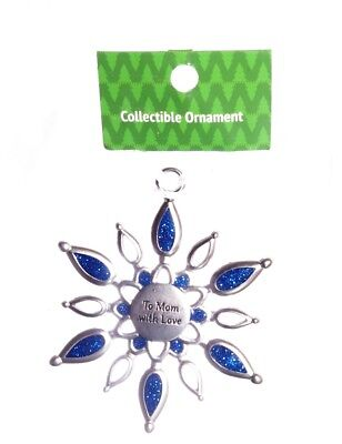 Mother Mom Christmas Holiday Pewter Tree Ornament Decoration Gift Present NEW ()